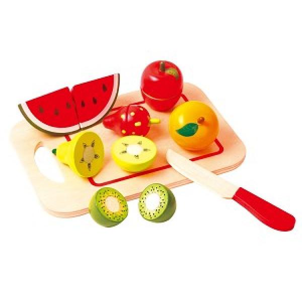 Snijset - Fruit op snijplank - 8 stuks