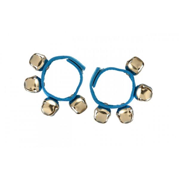 Bellenarmband - blauw - stof - paar