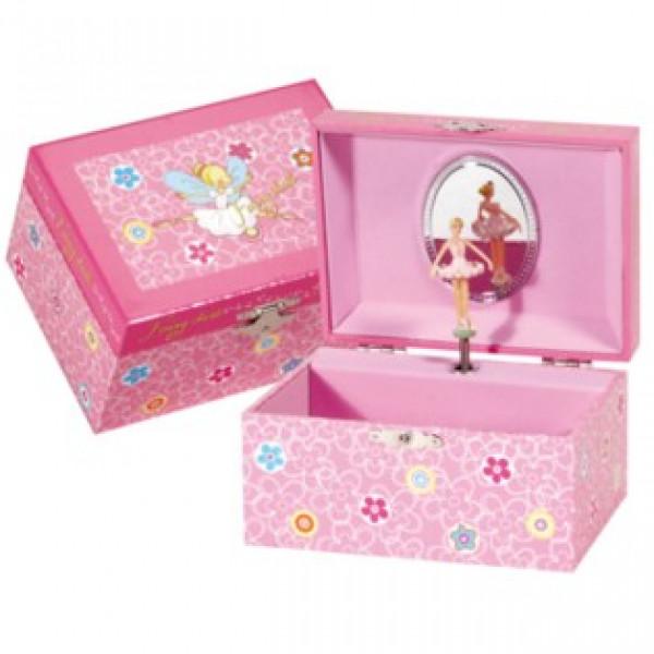 Bijouxdoosje Ballerina Muziekdoosje - roze