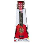 gitaar de luxe - rood - GRATIS VERZENDING