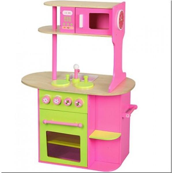 Houten speelgoed keuken Roze Groot