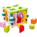 Houten vormenstoof - Sorteer kubus - insteekspel