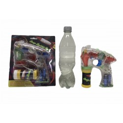 3 x Bellenblaas pistool met licht en geluid incl. batterijen en 1 halve liter bellenblaas sop