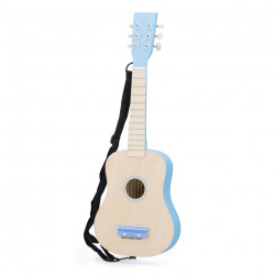 gitaar de luxe - blank/blauw - GRATIS VERZENDING