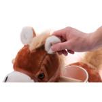 hobbelpaard - donkerbruin met geluid  new classic toys