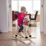 hobbelpaard - lichtbruin  met geluid  new classic toys