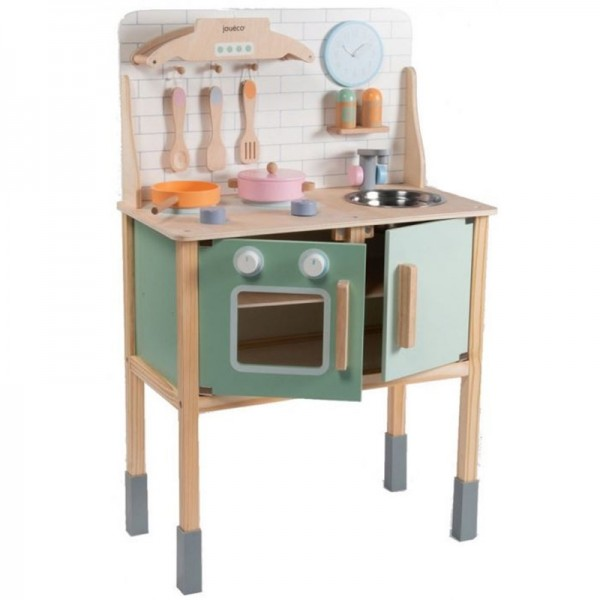 Houten keuken met accessoires Jouéco® -  gratis verzending