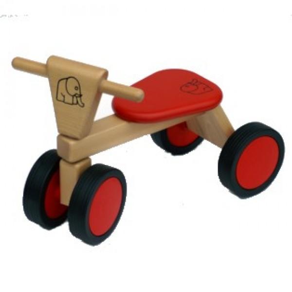 Van bueren Loopfiets met 4 wielen unisex rood