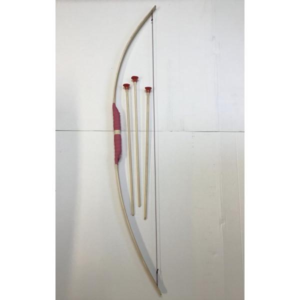 Pijl en boog lengte 120 cm rose