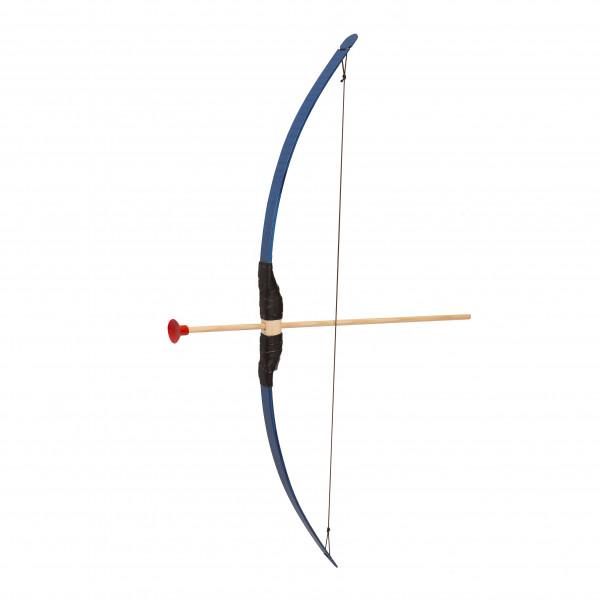 Pijl en boog lengte 80 cm blauw