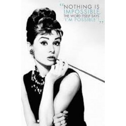Poster Audrey Hepburn - Nothing is impossible 91,5 x 61 cm