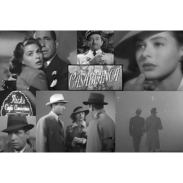 poster Casablanca Collage - Humphrey Bogart Ingrid Bergman Paul Henreid 91,5 x 61 cm