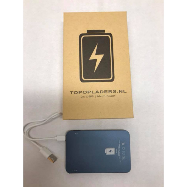 powerbank 5600 mAh Quick Charge met twee USB uitgangen