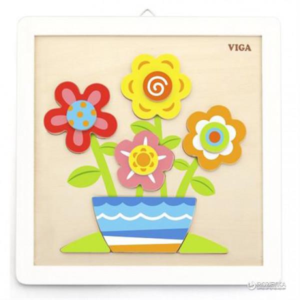 Leren Schilder verfset bloemen vanaf 3 jaar