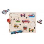 Puzzel Plastic Knop voertuigen