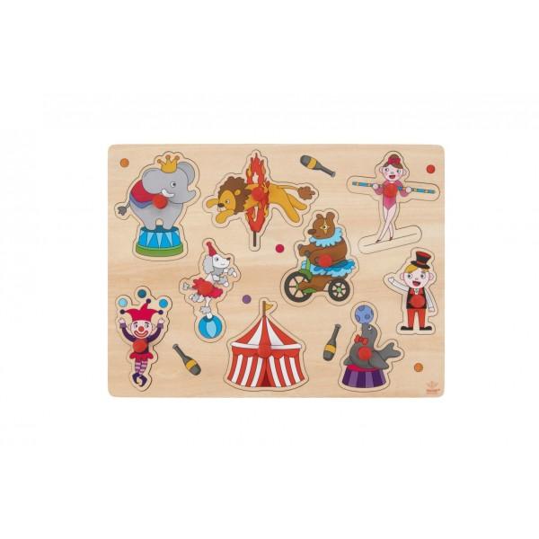 Puzzel Plastic Knop circus