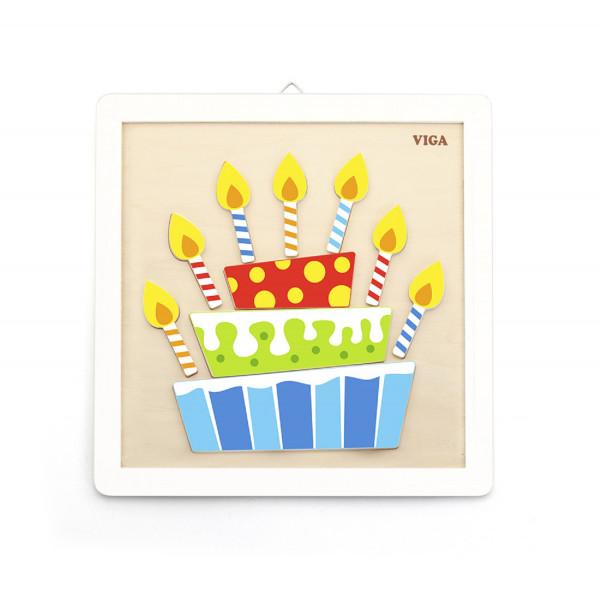 Leren Schilder verfset verjaardagstaart vanaf 3 jaar