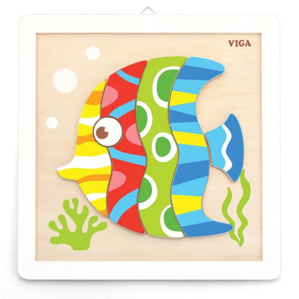 Leren Schilder verfset vis vanaf 3 jaar
