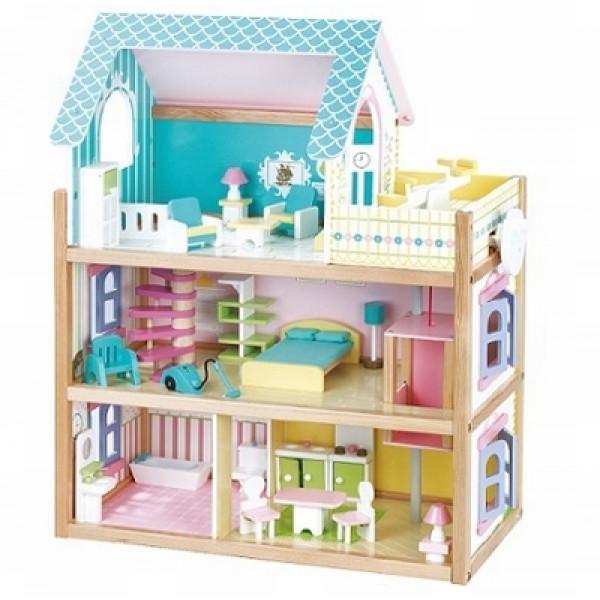 Poppenhuis blauw Mentari