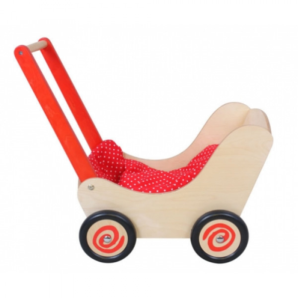 Poppenwagen rood Simply