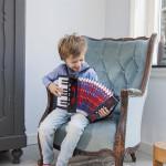 accordeon - zwart met muziekboek