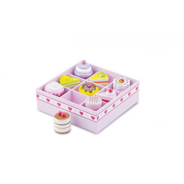 Cake/Gebak assortiment in geschenkdoos - 9 stuks