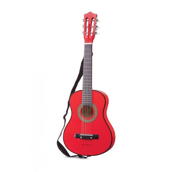 gitaar klassiek met gitaartas - rood - GRATIS VERZENDING