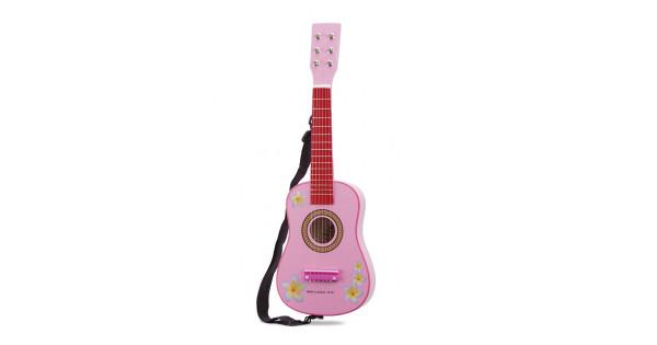 gitaar roze met bloemen new classic toys