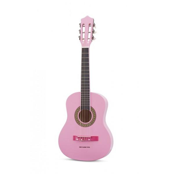 gitaar klassiek met gitaartas - roze - GRATIS VERZENDING