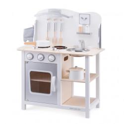Houten speelgoed keuken Bon Appetit  WIT/ZILVER - GRATIS VERZENDING