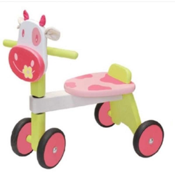 Loopfiets koe roze - I'm Toy - GRATIS VERZENDING