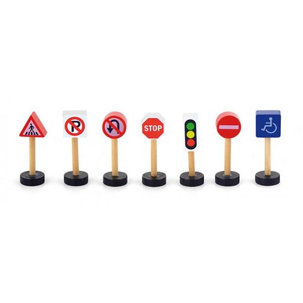 Trein accessoireset verkeersborden - 7 stuks