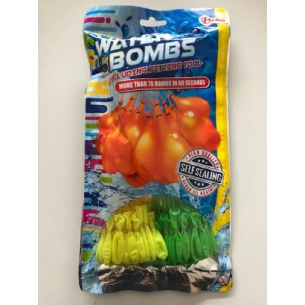 Waterballonnen zelfsluitend - Water bombs | 70 stuks