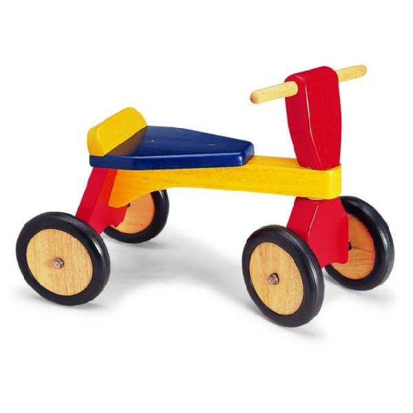 Loopfiets blauw geel rood big trike merk Pintoy