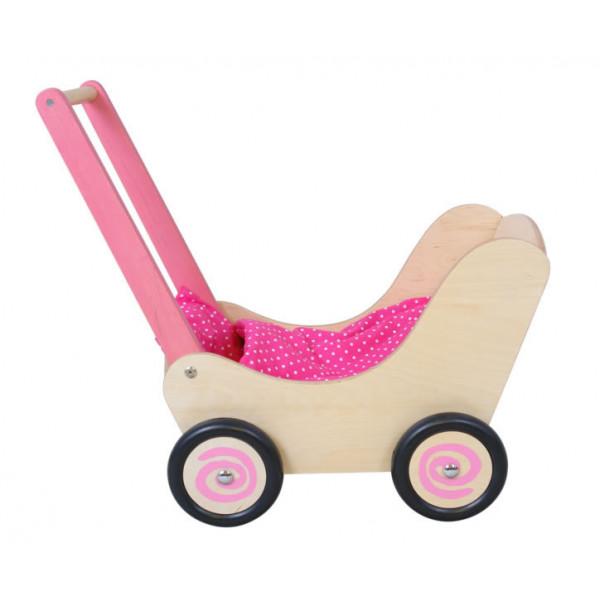 Poppenwagen roze Simply